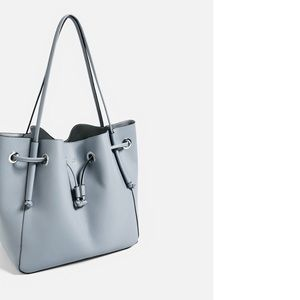 Zara Convertible bucket bag handbag crossbody